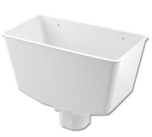 White Downpipe Hopper Floplast RHS1